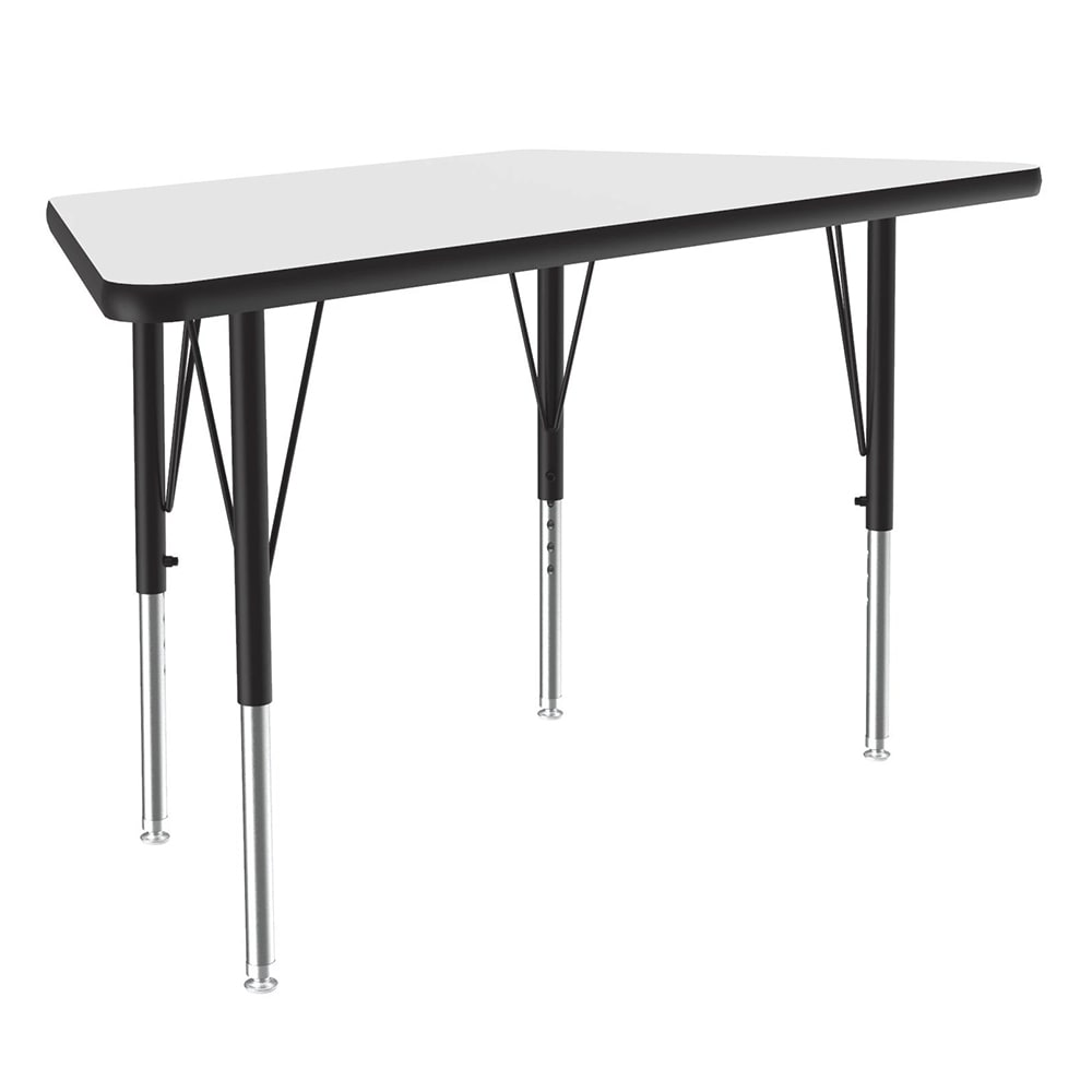 "Correll A2448-TRP 36 Activity Table w/ 1.25"" High Pressure Top, 48""W x 24""D, White"