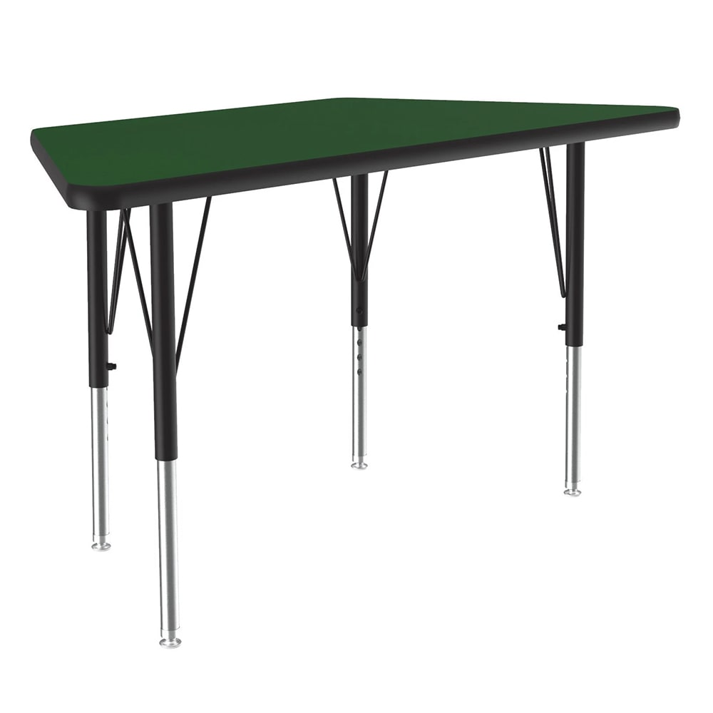 "Correll A2448-TRP 39 Activity Table w/ 1.25"" High Pressure Top, 48""W x 24""D, Green"