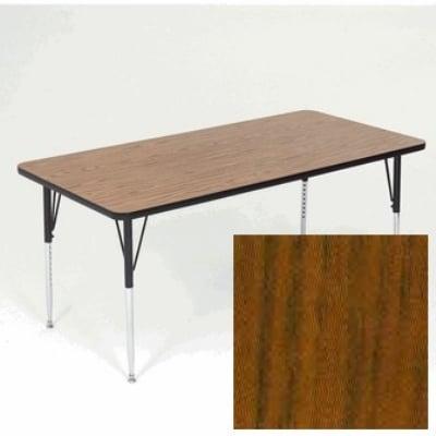"""Correll A2460-REC 02 Activity Table w/ 1.25"""" High Pressure Top, 24 x 60"""", Oak"""