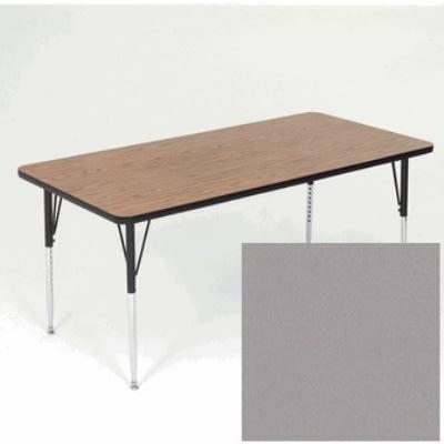 "Correll A2460-REC 13 Activity Table w/ 1.25"" High Pressure Top, 24 x 60"", Dove Gray"