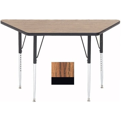 "Correll A3060-TRP 02 Activity Table w/ 1.25"" High Pressure Top, 30 x 30 x 60"", Oak"