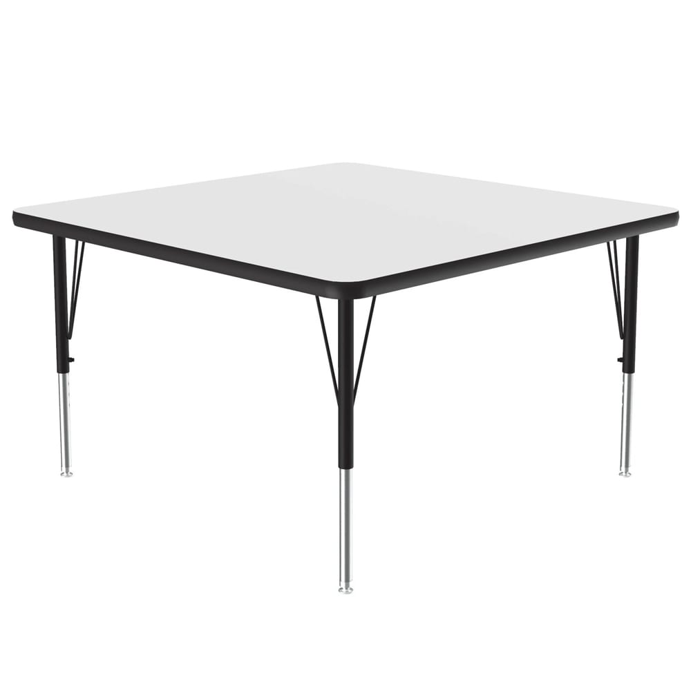 "Correll A3636-SQ 36 Activity Table w/ 1.25"" High Pressure Top, 36""W x 36""D, White"