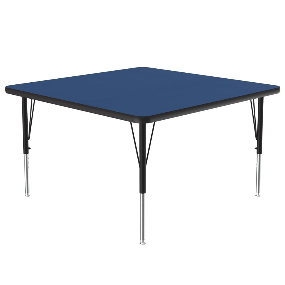 """Correll A3636-SQ 37 Square Activity Table w/ 1.25"""" High Pressure Top, 36 x 36"""", Blue"""