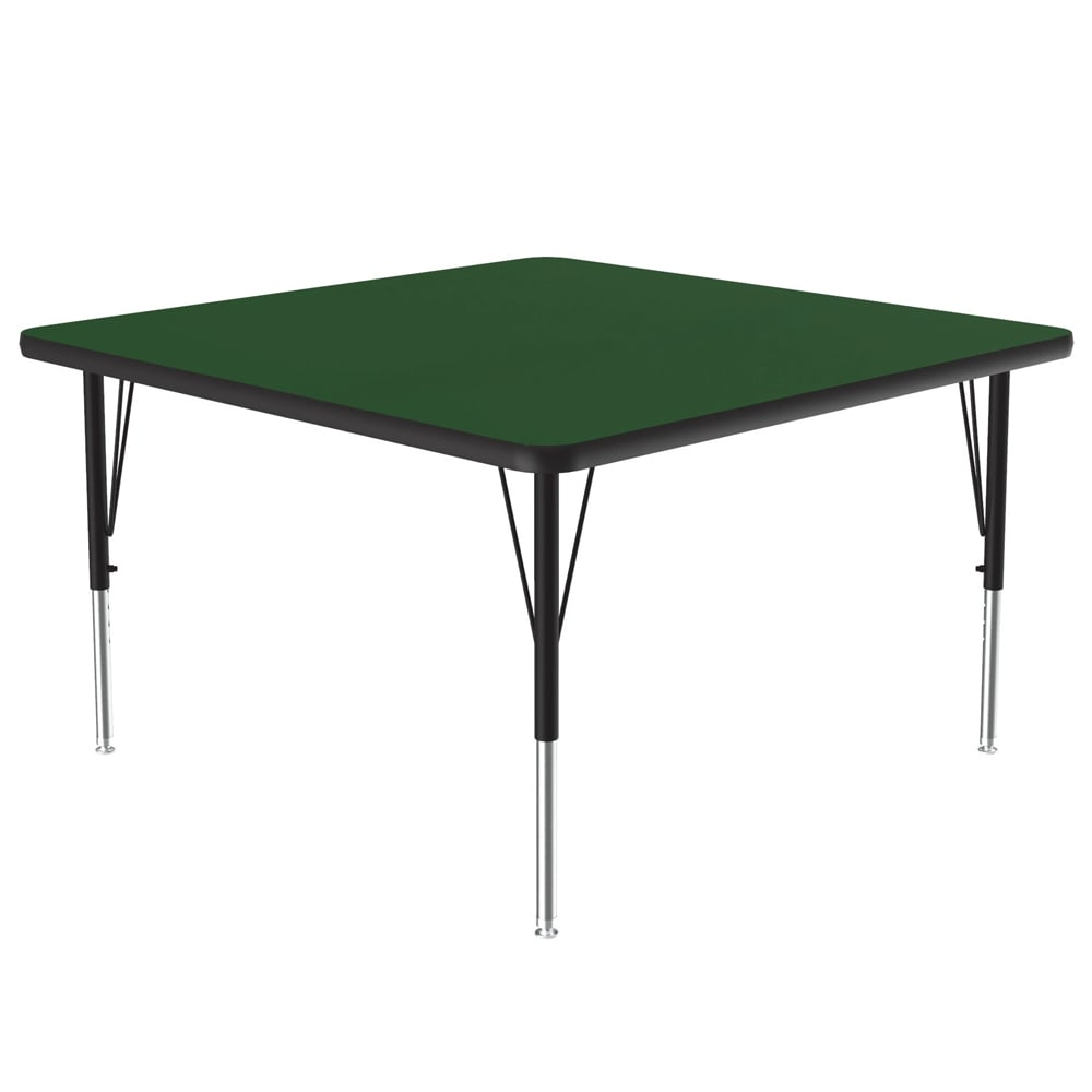 """Correll A3636-SQ 39 Activity Table w/ 1.25"""" High Pressure Top, 36""""W x 36""""D, Green"""