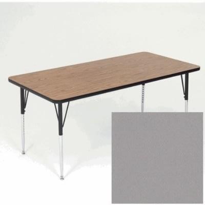 "Correll A3660-REC 13 Activity Table w/ 1.25"" High Pressure Top, 36 x 60"", Dove Gray"