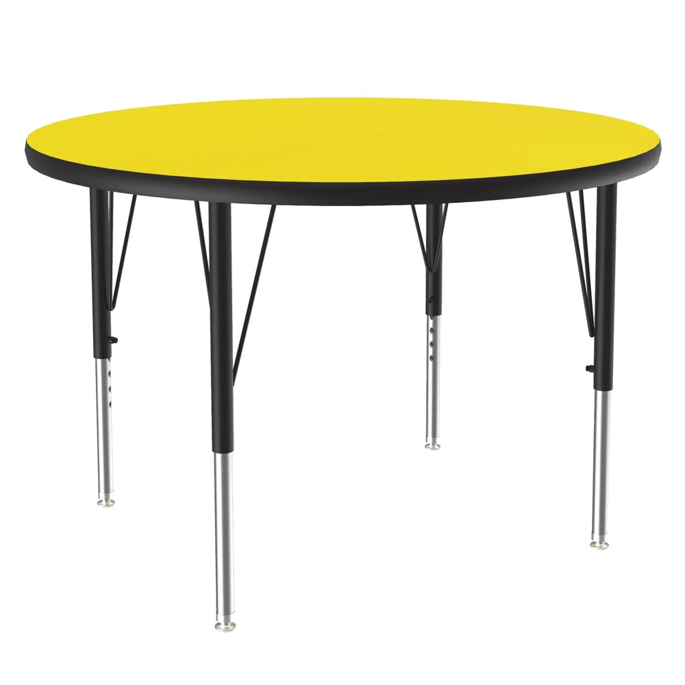 "Correll A36-RND 38 36"" Round Table w/ 1.25"" High Pressure Top, Yellow"