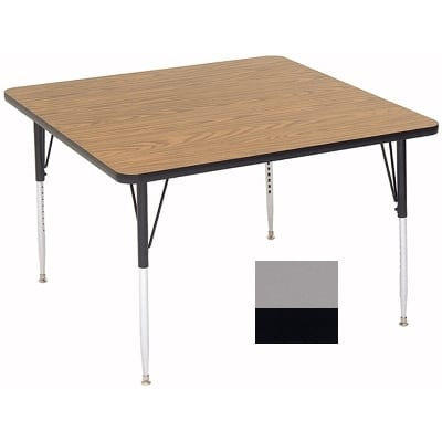"Correll A4242-SQ 13 Activity Table w/ 1.25"" High Pressure Top, 42""W x 42""D, Dove Gray"