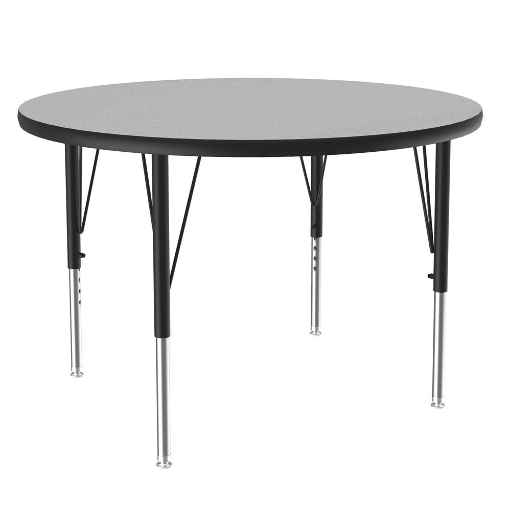 "Correll A42-RND15 42"" Round Table w/ 1.25"" High Pressure Top, Gray Granite"