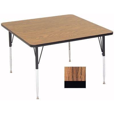 "Correll A4848-SQ 02 Activity Table w/ 1.25"" High Pressure Top, 48""W x 48""D, Oak"