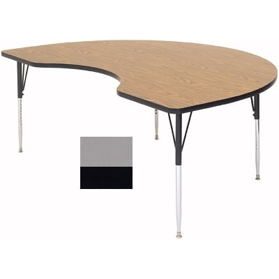 """Correll A4872-KID 13 Activity Table w/ 1.25"""" High Pressure Top, 72""""W x 48""""D, Dove Gray"""