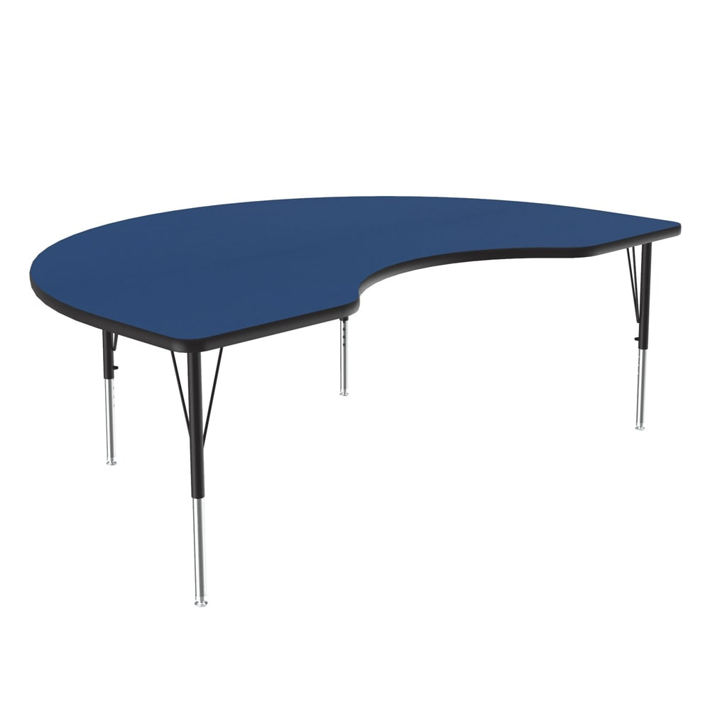 "Correll A4872-KID 37 Activity Table w/ 1.25"" High Pressure Top, 72""W x 48""D, Blue"