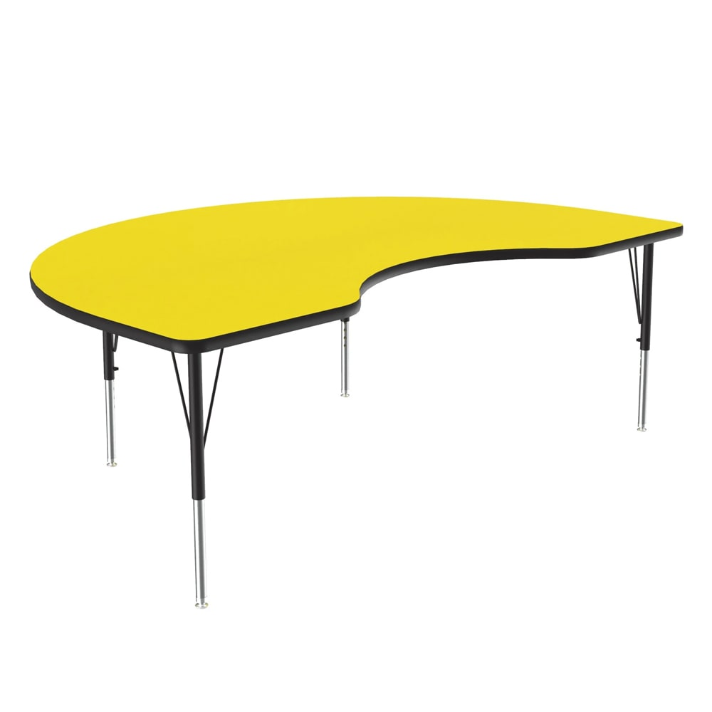 "Correll A4872-KID 38 Activity Table w/ 1.25"" High Pressure Top, 72""W x 48""D, Yellow"