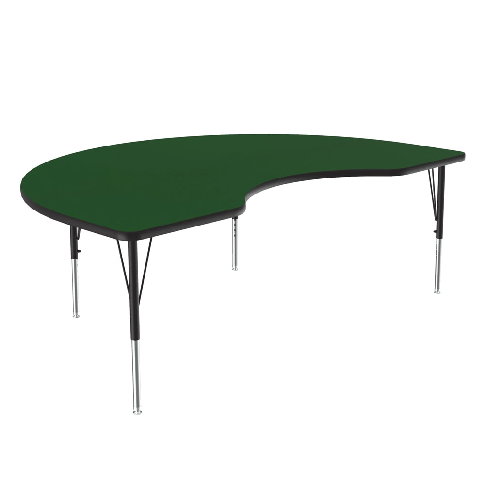 "Correll A4872-KID 39 Activity Table w/ 1.25"" High Pressure Top, 48 x 72"", Green"