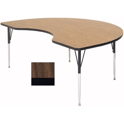 "Correll A4896-KID 01 Activity Table w/ 1.25"" High Pressure Top, 96""W x 48""D, Walnut"