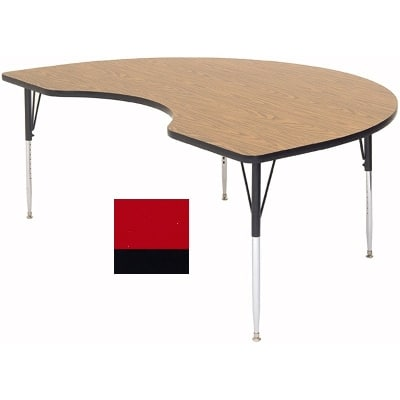 "Correll A4896-KID 35 Activity Table w/ 1.25"" High Pressure Top, 96""W x 48""D, Red"