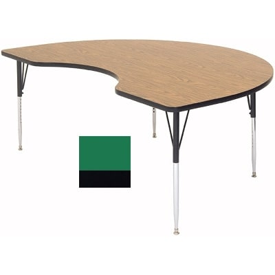 "Correll A4896-KID 39 Activity Table w/ 1.25"" High Pressure Top, 96""W x 48""D, Green"