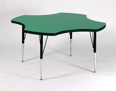 """Correll A48-CLO 02 Activity Table w/ 1.25"""" High Pressure Top, 48""""W x 48""""D, Oak"""