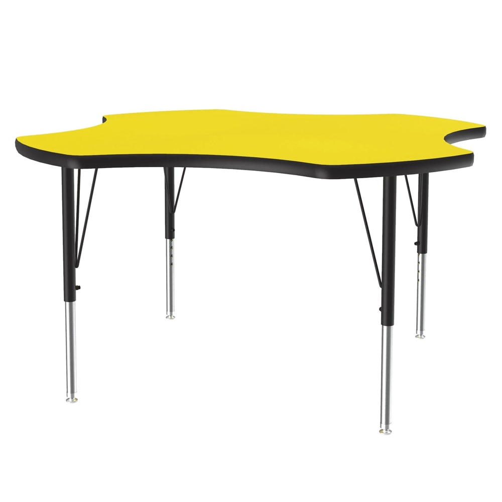 """Correll A48-CLO 38 Activity Table w/ 1.25"""" High Pressure Top, 48""""W x 48""""D, Yellow"""