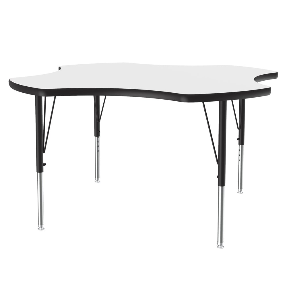 """Correll A48-CLO 48 Activity Table w/ 1.25"""" High Pressure Top, 48"""" Clover Shape, White"""