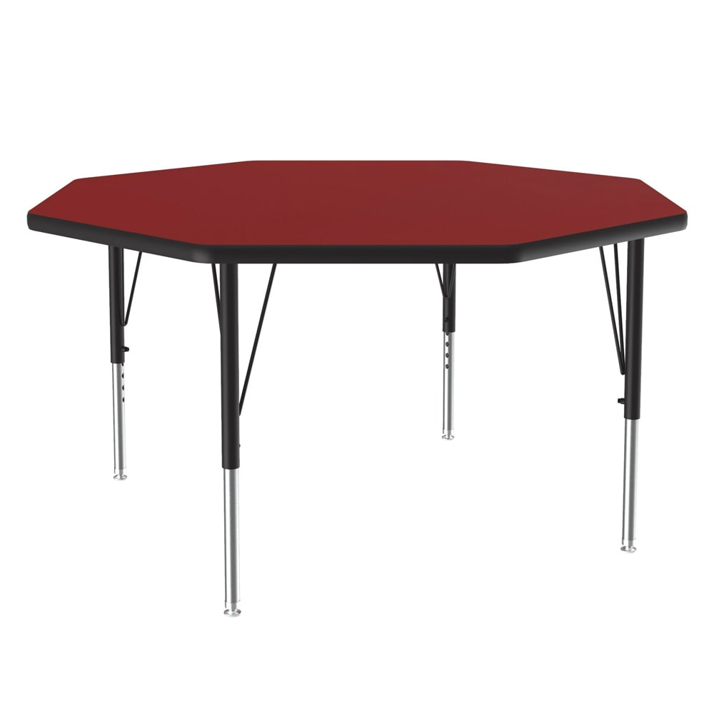 "Correll A48-OCT 35 48"" Octagonal Table w/ 1.25"" High Pressure Top, Red"
