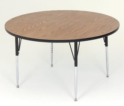 "Correll A48-RND 06 48"" Round Table w/ 1.25"" High Pressure Top, Oak"