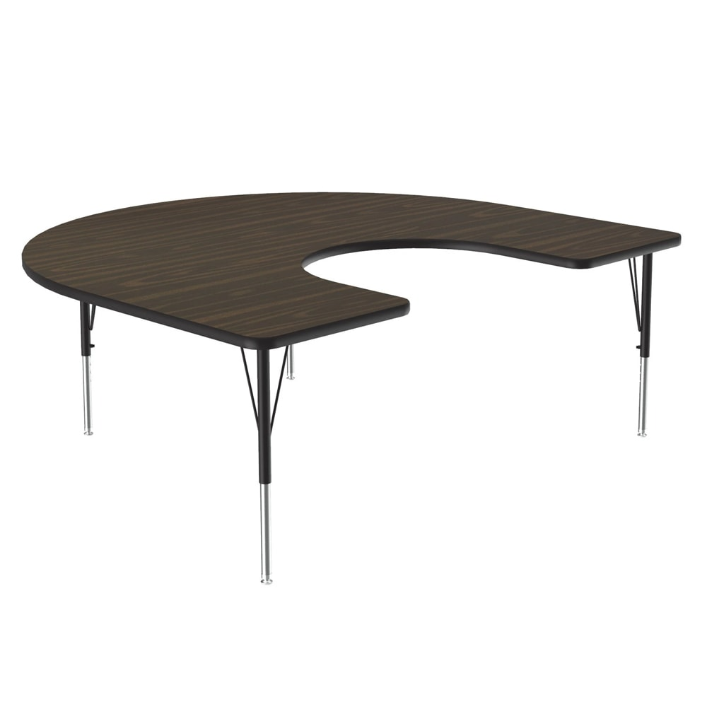 "Correll A6066-HOR 01 Activity Table w/ 1.25"" High Pressure Top, 66""W x 60""D, Walnut"
