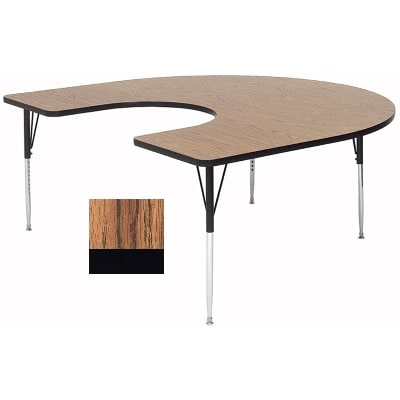 "Correll A6066-HOR 02 Activity Table w/ 1.25"" High Pressure Top, 66""W x 60""D, Oak"