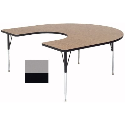 "Correll A6066-HOR 13 Activity Table w/ 1.25"" High Pressure Top, 66""W x 60""D, Dove Gray"