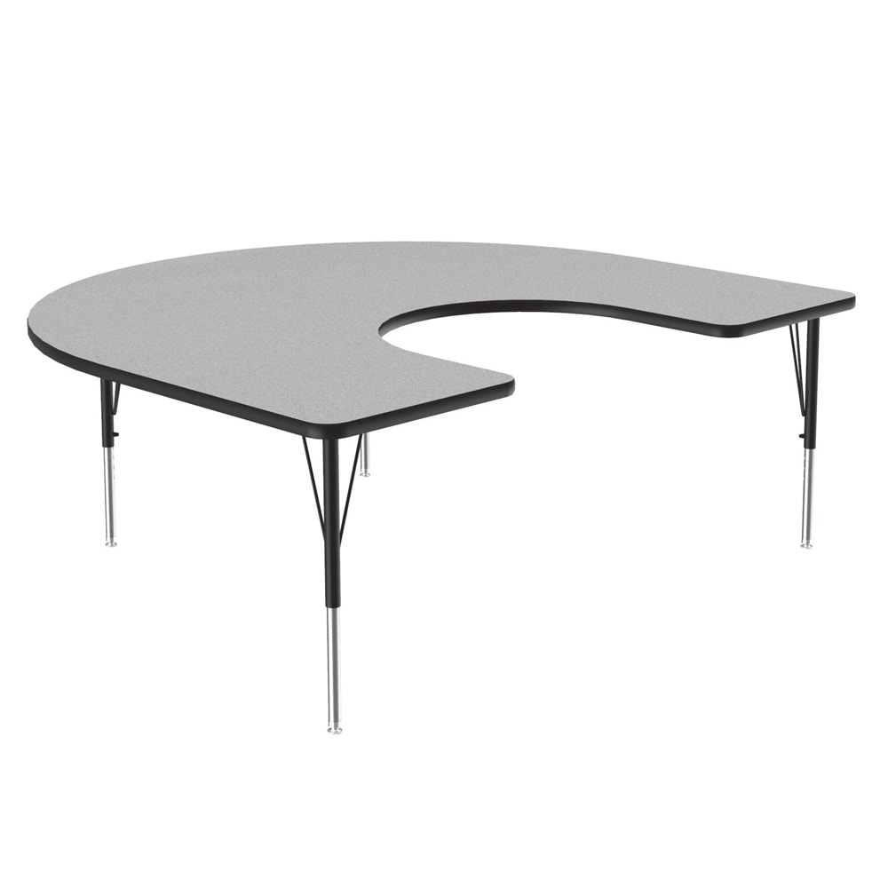 """Correll A6066-HOR15 Activity Table w/ 1.25"""" High Pressure Top, 60 x 66"""", Gray Granite"""
