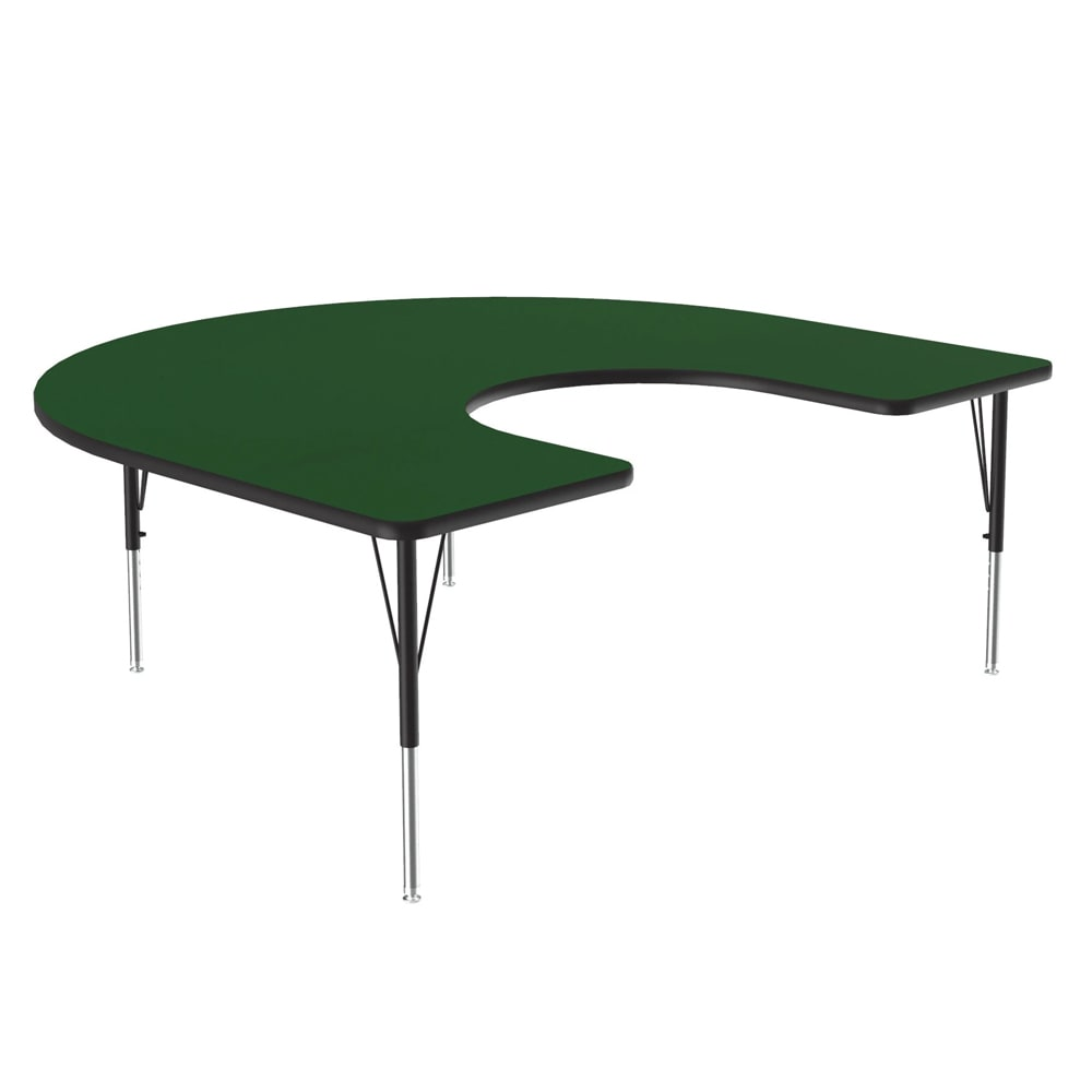 "Correll A6066-HOR 39 Activity Table w/ 1.25"" High Pressure Top, 66""W x 60""D, Green"