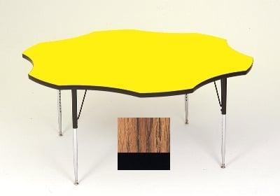"Correll A60-FLR 02 48"" Flower Shape Table w/ 1.25"" High Pressure Top, Oak"
