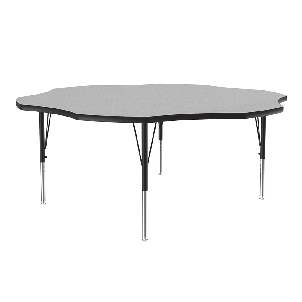 """Correll A60-FLR15 Activity Table w/ 1.25"""" High Pressure Top, 48"""" Flower Shape, Gray Granite"""