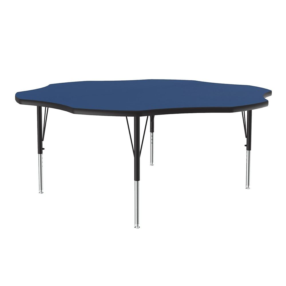 "Correll A60-FLR 37 48"" Flower Shape Table w/ 1.25"" High Pressure Top, Blue"