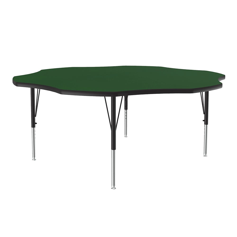 "Correll A60-FLR 39 48"" Flower Shape Table w/ 1.25"" High Pressure Top, Green"