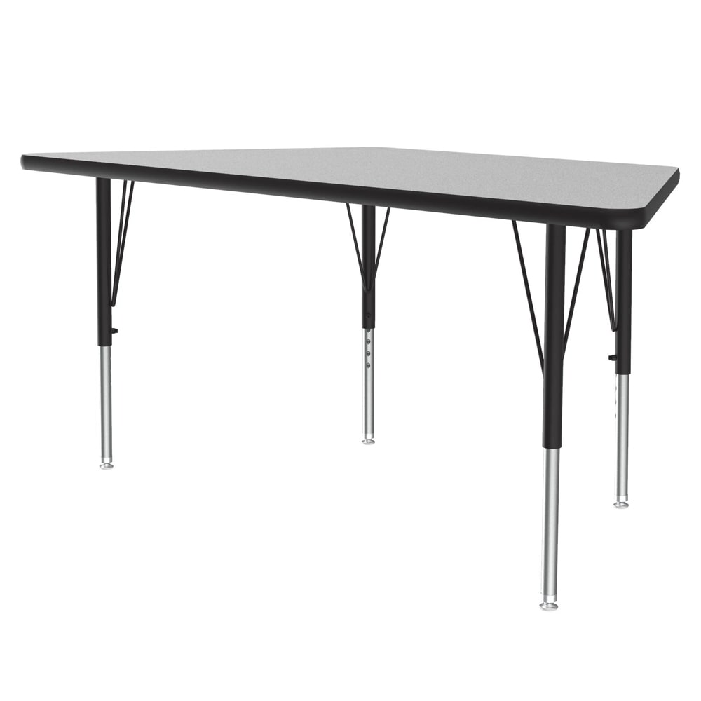 "Correll AM3060-TRP 15 Trapezoid Activity Table w/ Melamine Top, 24x48"", Gray Granite"