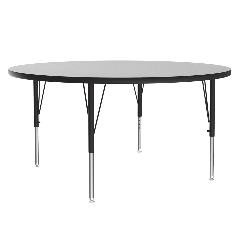 "Correll AM48-RND 15 48"" Round Activity Table w/ Melamine Top, Gray Granite"