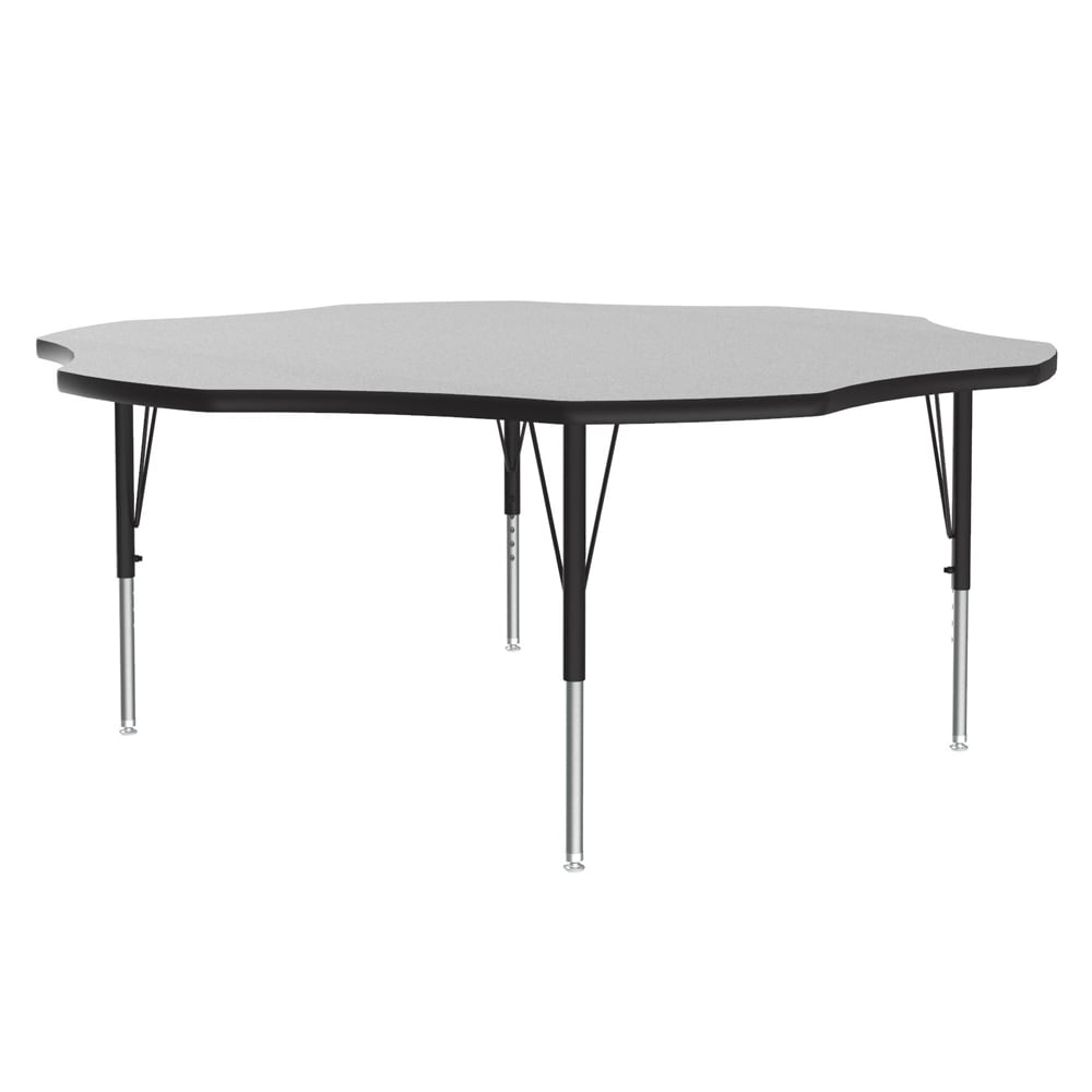 "Correll AM60-FLR 15 60"" Flower-Shaped Activity Table w/ Melamine Top, Gray Granite"