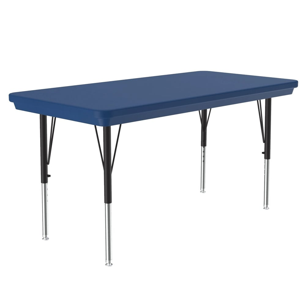 "Correll AR2448-REC 27 Activity Table w/ Plastic Top, 48""W x 24""D, Blue"