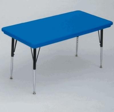 """Correll AR2448-REC 27SL Activity Table w/ Plastic Top, 48""""W x 24""""D, Blue"""
