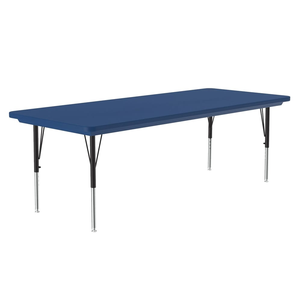 "Correll AR3060-REC 27 Free-Standing Activity Table, Adjusts to 30"", 30 x 60"", Blue"