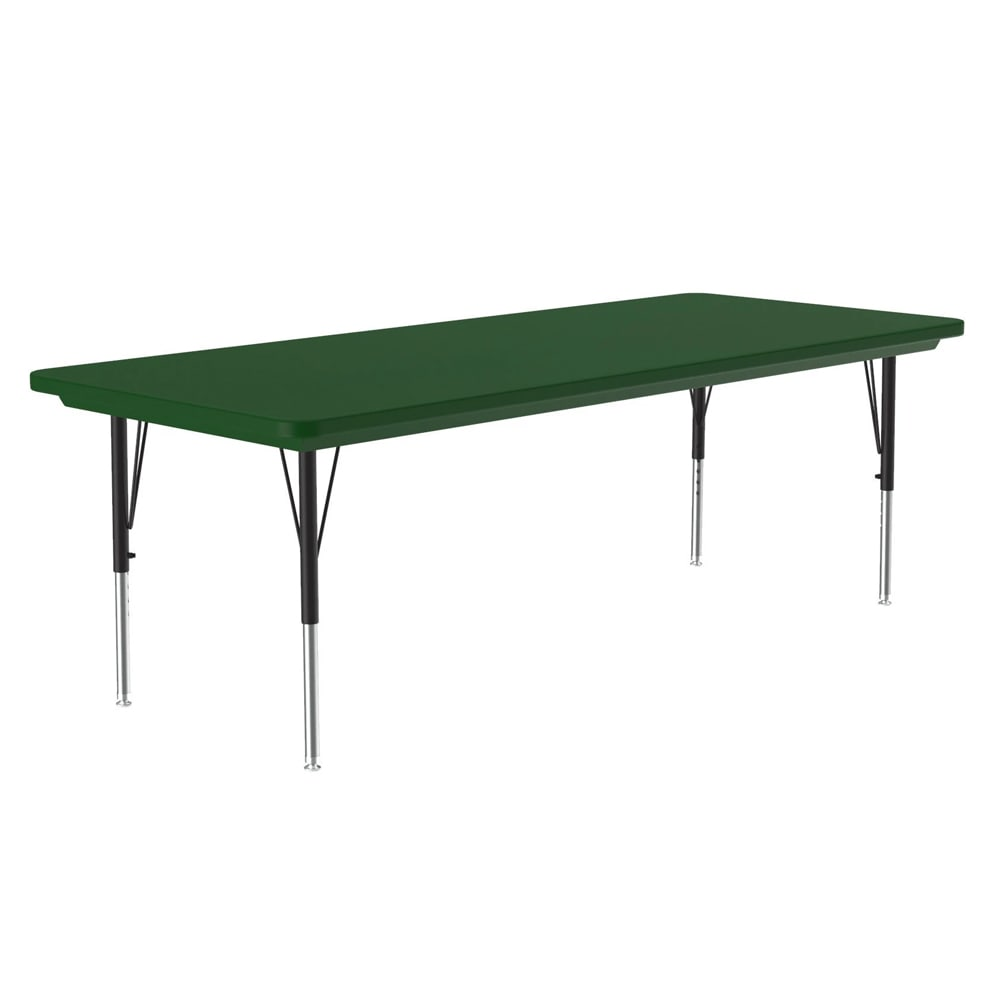 "Correll AR3060-REC 29 Activity Table w/ Plastic Top, 60""W x 30""D, Green"
