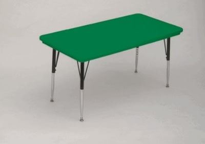"""Correll AR3060-REC 29SL Free-Standing Activity Table, Adjusts to 25"""", 30 x 60"""", Green"""