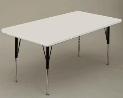 """Correll AR3072-REC 15SL Activity Table w/ Plastic Top, 72""""W x 30""""D, Gray Granite"""