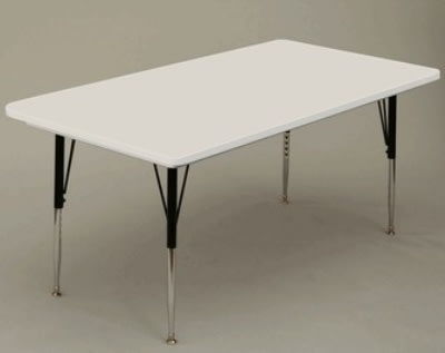 "Correll AR3072-REC 15SL Free-Standing Activity Table, Adjusts to 25"", 30 x 72"", Gray Granite"