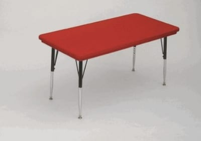 """Correll AR3072-REC 25SL Free-Standing Activity Table, Adjusts to 25"""", 30 x 72"""", Red"""