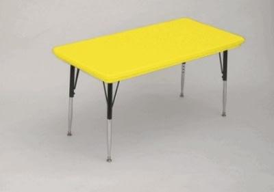 "Correll AR3072-REC 28SL Activity Table w/ Plastic Top, 72""W x 30""D, Yellow"