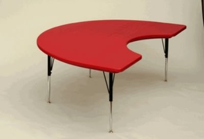 "Correll AR4872-KID 25SL Activity Table w/ Plastic Top, 72""W x 48""D, Red"