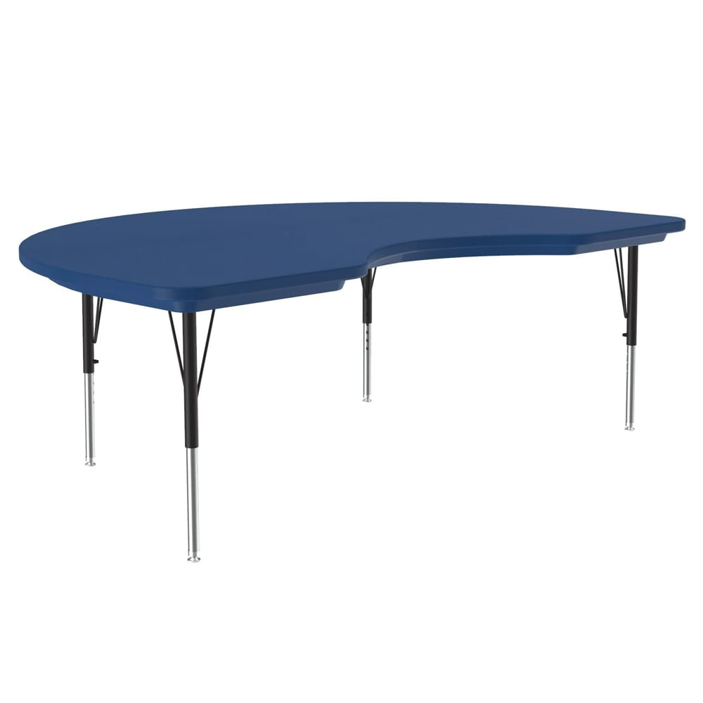 "Correll AR4872-KID 27 Activity Table w/ Plastic Top, 72""W x 48""D, Blue"