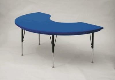 "Correll AR4872-KID 27SL Activity Table w/ Plastic Top, 72""W x 48""D, Blue"