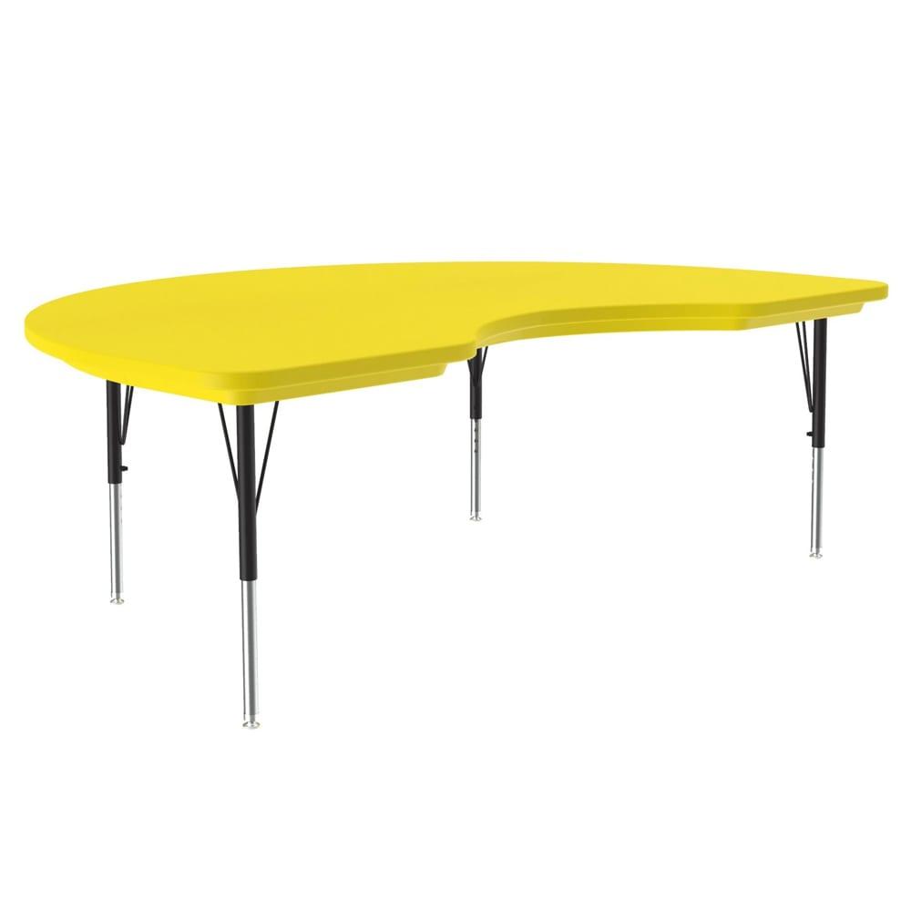 "Correll AR4872-KID 28 Activity Table w/ Plastic Top, 72""W x 48""D, Yellow"